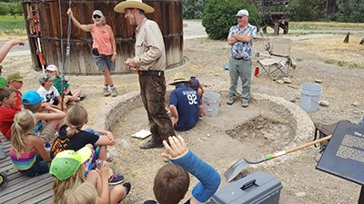 Archaeology during kids camp2